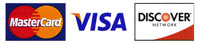 We now accept Visa, Mastercard & Discover